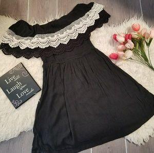 Umgee Sz S On or Off Shoulder Dress